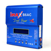 Cargador de batería IMAX B6 AC 80W B6AC Lipo NiMH 3 S/4S/5S RC + cable de alimentación enchufe UE EE. UU. AU Reino Unido