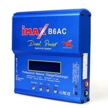 Imax b6 ac 80w b6ac lipo nimh 3s/4S/5S rc bateria balanceamento carregador + ue eua au reino unido plug fonte de alimentação fio