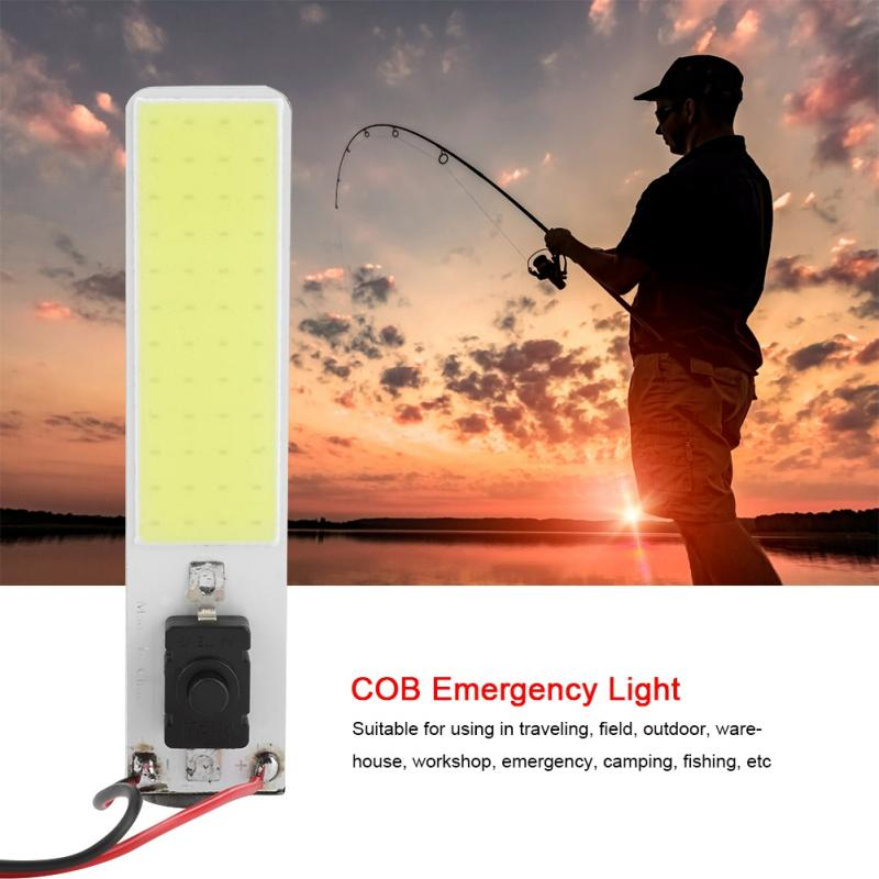12V COB Emergency Light White LED Slim Chip Light Emergency Lamp for Outdoor Tent Camping Fishing iluminacion led