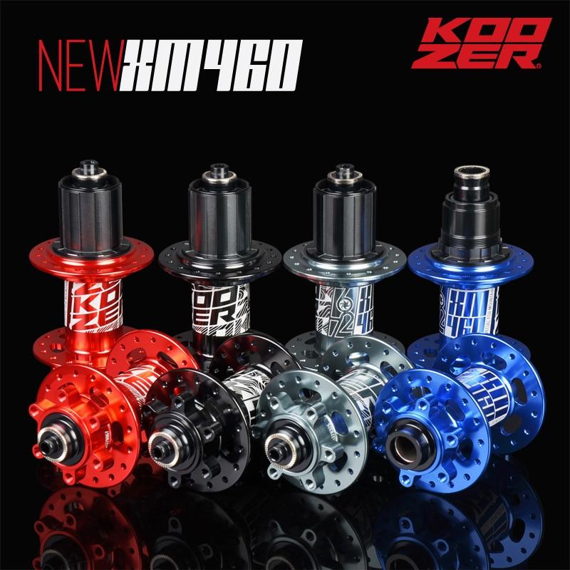 KOOZER XM460 frente 32 furos do cubo traseiro da bicicleta rolamentos 6 4 linguetas hubs quick release Traseiro Hub 100*9 /15mm 135*10/142*12 QR Thru