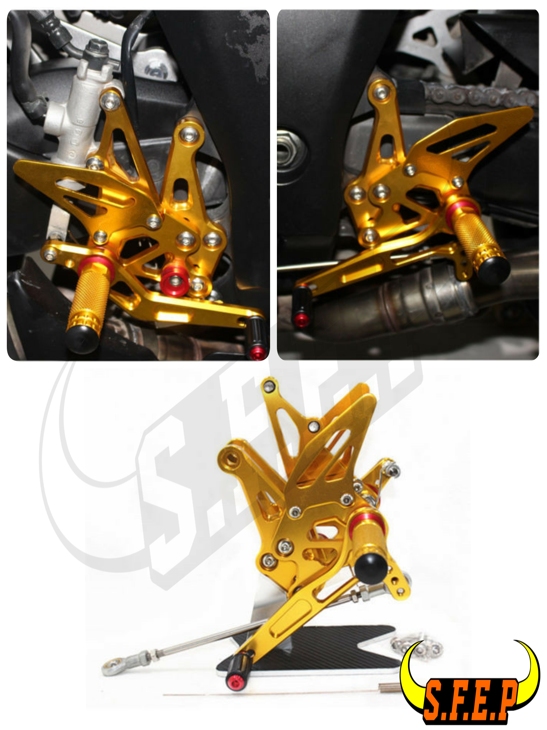 CNC Adjustable Rearset Foot Pegs Rest Pedal For Kawasaki Z1000 2014 2015 2016