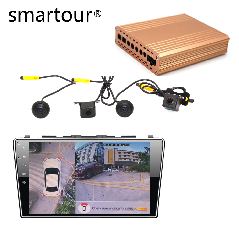 Smartour car 1080P Super HD 360 Degree bird View System Panoramic View All round Camera with DVR driving Surround recoder
