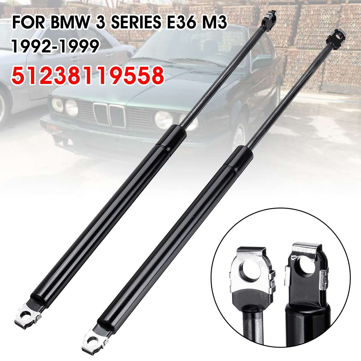BMW 2000-2006 For E46 Set of 2 Trunk Lifting Struts For Dampers PAIR Support