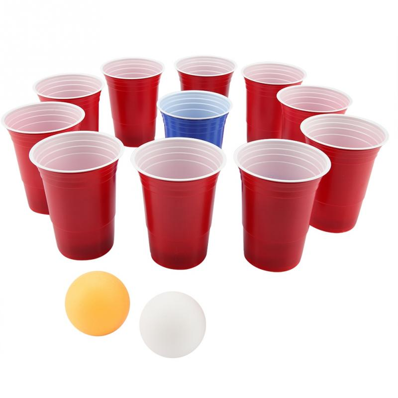 <font><b>Beer</b></font> Pong Set <font><b>Beer</b></font> Pong Drinking Game Party Fun Kit Set <font><b>Beer</b></font> Pong <font><b>Cups</b></font>-11 <font><b>Cups</b></font> 2 Ping-Pong Balls Party Fun image