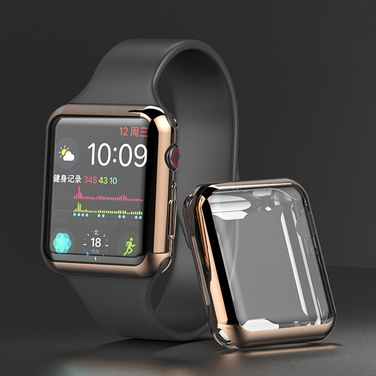 For Apple Watch Series 4 3 2 1 40MM 44MM Case Soft TPU Plating Clear Screen Protector Slim Cover For iWatch 1 2 3 38MM 42MM Case in Fitted Cases from Cellphones Telecommunications