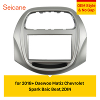 Seicane Double Din Car Radio Fascia Frame Dash Trim Installation Kit For 2018+ Daewoo Matiz Chevrolet Spark Baic Beat No gap