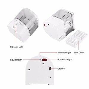 Image 4 - Dispensador de jabón automático con Sensor IR de montaje en pared, sin contacto, surtidor de loción y jabón para cocina y baño, con batería de 600ml