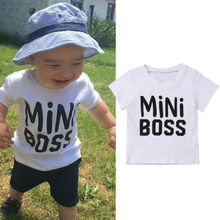 New Canis Summer Boys T-shirt Crew Neck Casual Loose Tops Blouse Toddler 1-5T цена и фото