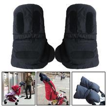 Winter Pram Hand Muff Windproof Warm Gloves Polar Fleece Mittens for Baby Stroller Pushchair Outdoor Warmers Cart