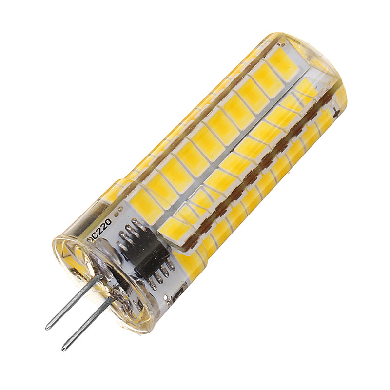 CLAITE AC110V/220V G4 6W Warm White Pure White 5730 SMD 80LED Silicone Dimmable LED Bulb Suitable for Office Energy Saving