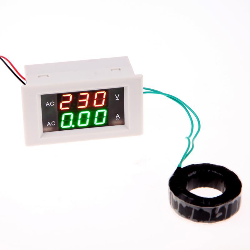 Universal Power Energy Tester with Current Transformer CT Car AC 500V 100A Digital Voltmeter Ammeter LED Amp Volt Meter Shunt