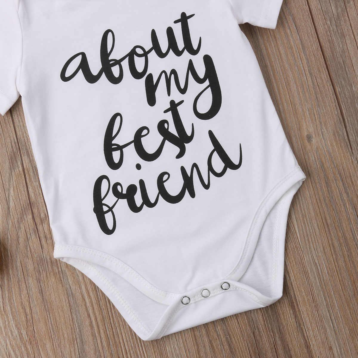 ビッグ/弟新生児キッズベビーボーイ綿トップ Tシャツロンパース衣装服