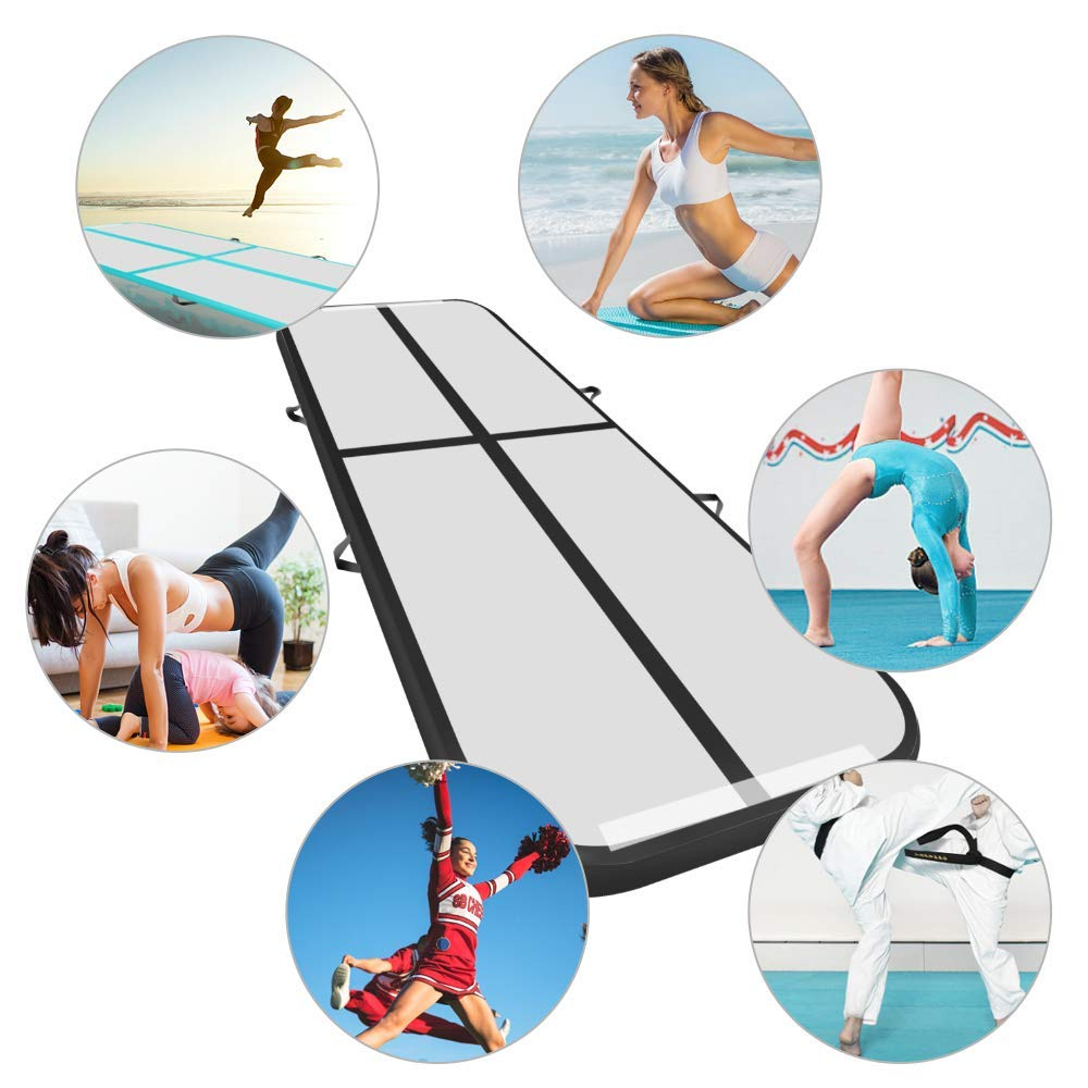 300cm Inflatable Gymnastics Tumbling Multi function Mat Air Tumble Electric Pump Floor Home Use Cheerleading Beach Park Water in Inflatable Bouncers from Toys Hobbies