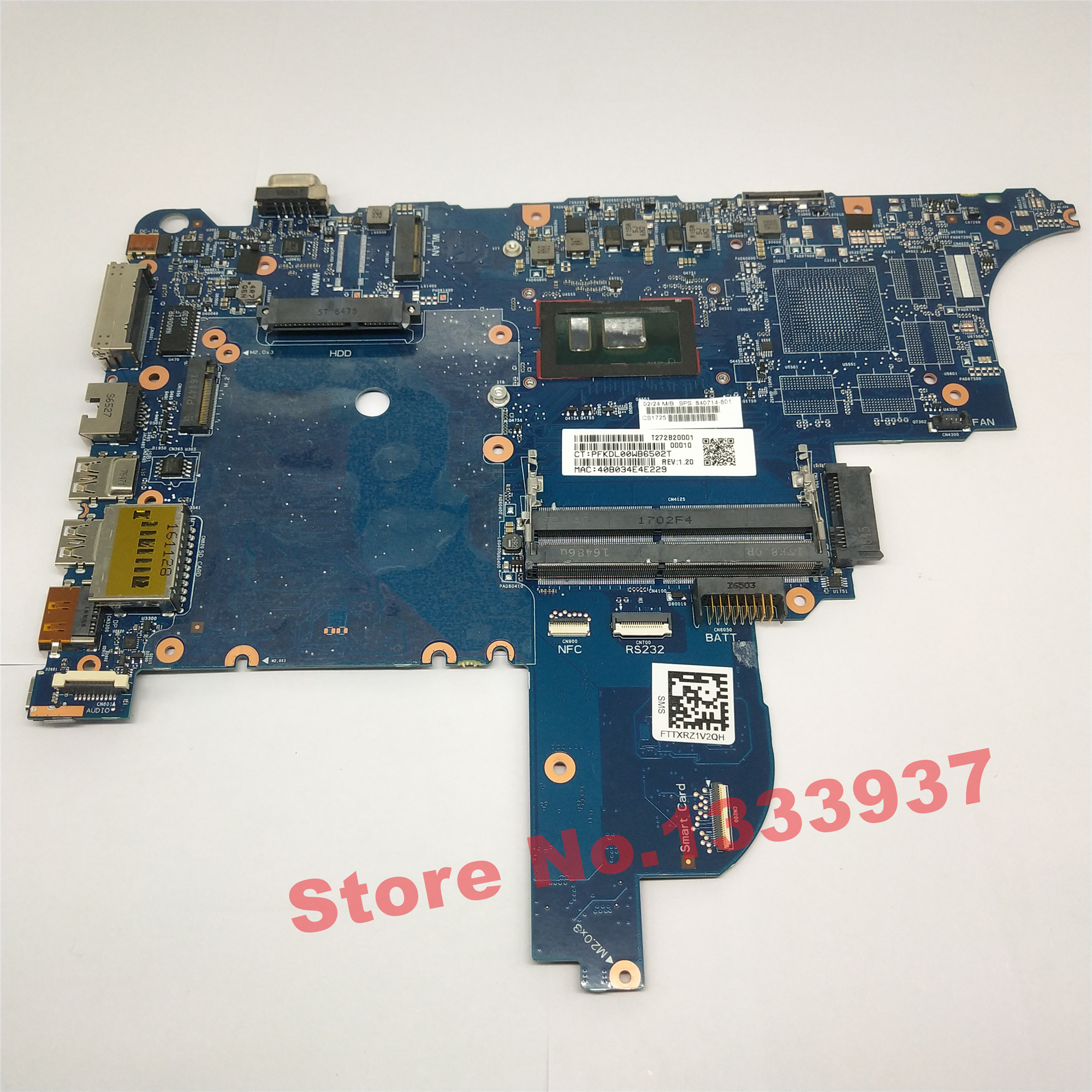 Mainboard 840714-601 840714-601 840714-501 For HP ProBook 640 G2 650 G2 640-g2 650-G2 Laptop Motherboard I3-6100U Notebook PC