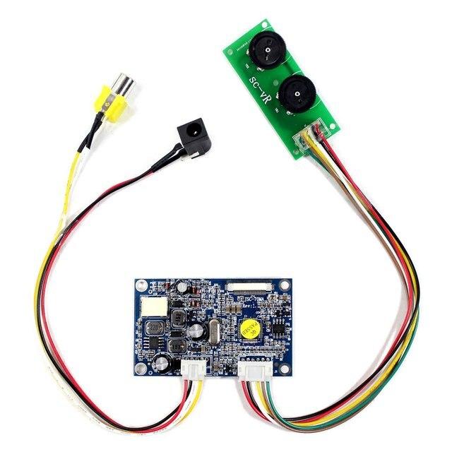 สำหรับ 7 นิ้วหน้าจอ LCD อินพุต CVBS CONTROLLER BOARD สำหรับ 26Pin อินเทอร์เฟซ TTL หน้าจอ LCD HSD070I651 AT070TN07 480x234 ความละเอียด