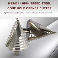 110mm Cone Hole HSS Titanium Coated Step Drill Bit Drilling Power Tools HSS 6 60mm Steel Metal Hole Cutter