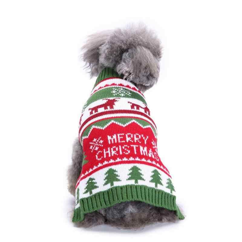 Одежда для домашних животных свитер с высоким воротником Одежда для собак свитер Рождественская одежда снежинка свитер для собак на осень и зиму