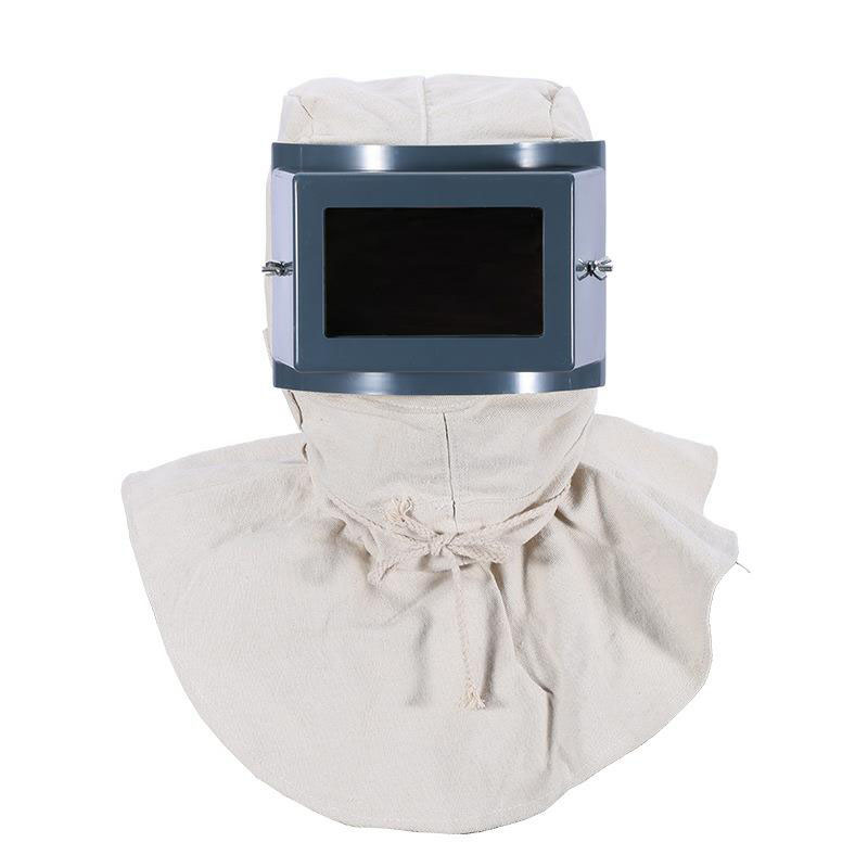 Tampa À Prova de Poeira Máscara Protetora Jateamento Pintura branca Rosto Cheio de Pó Industrial de Moagem Cabeça Cap Xale Máscara Protetora DFS039