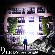 Супер яркий 90000 люмен светодиодный налобный фонарь 9led xm