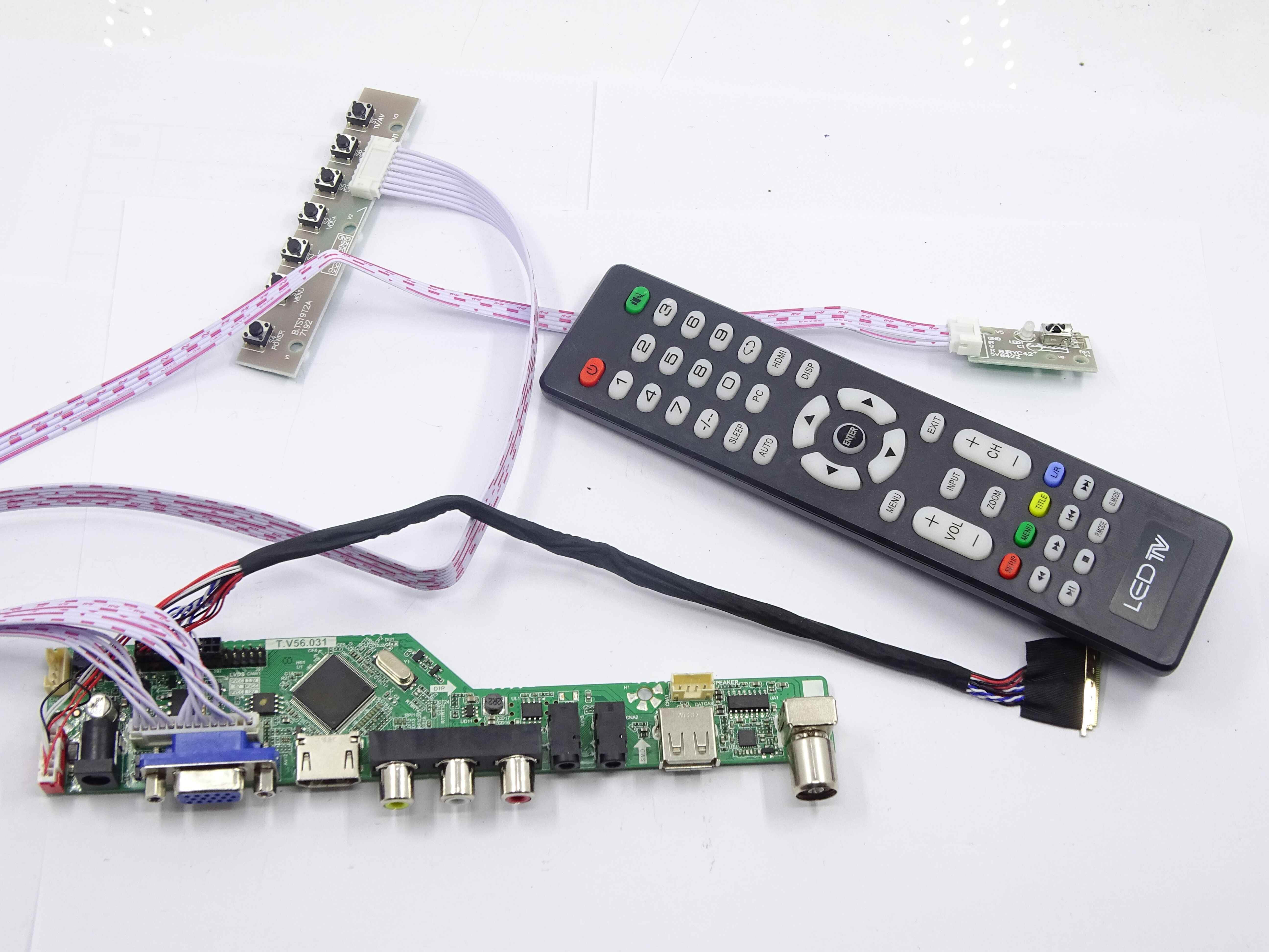 Audio LCD Controller Board For LTN156AT02-A04 1366X768 US Seller HDMI+DVI+VGA