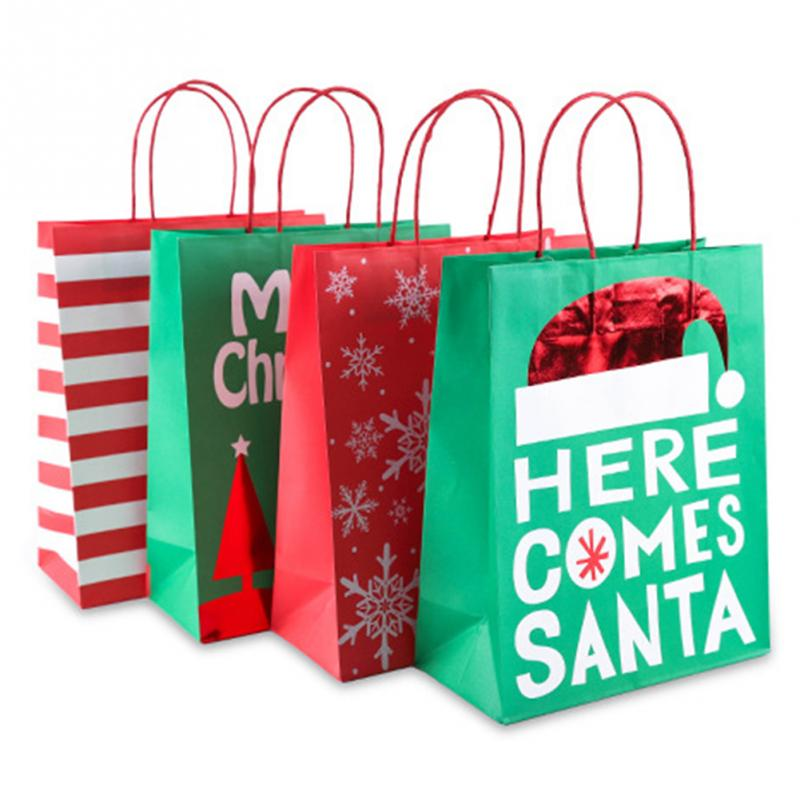 4pcs Christmas Candy Bag Gift Bag Merry Christmas Tree ...
