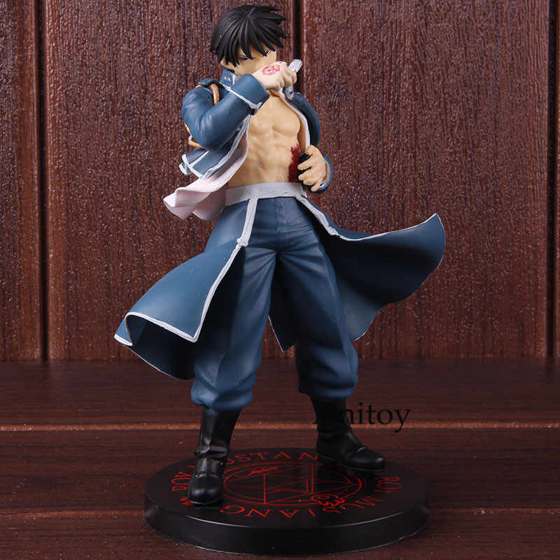 Anime Fullmetal Alchemist Roy Mustang Figura Collectible Toy Modelo PVC