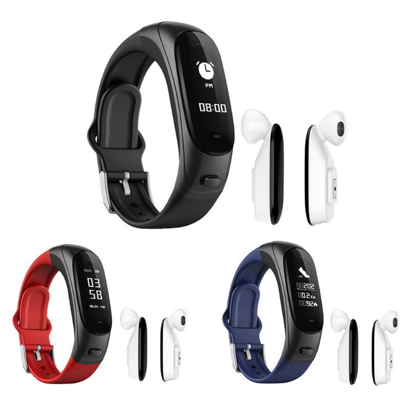 V08 Auricolare Bluetooth Misuratore di Pressione Sanguigna Monitor di Frequenza Cardiaca Braccialetto IntelligenteV08 Auricolare Bluetooth Misuratore di Pressione Sanguigna Monitor di Frequenza Cardiaca Braccialetto Intelligente