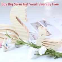 LM Modern Minimalist Wooden Swan Crafts Creative Jewelry Wedding Decoration Buy One Get Free Hot Sale
