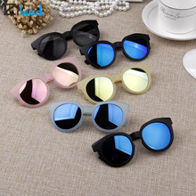 Zilead Korean Candy Color Frosted Sunglasses Hot Boys Girls Kids Child Classic Retro Cute Sun Glasses Flower Round Eyewear UV400