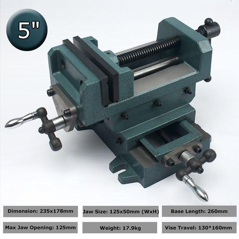 Aletler'ten Mengene'de 5 inç manuel tezgah mengenesi ile sürgü çubuğu dikey ve yatay yönlü masa çapraz slayt kelepçesi mekanik çalışma el aletleri