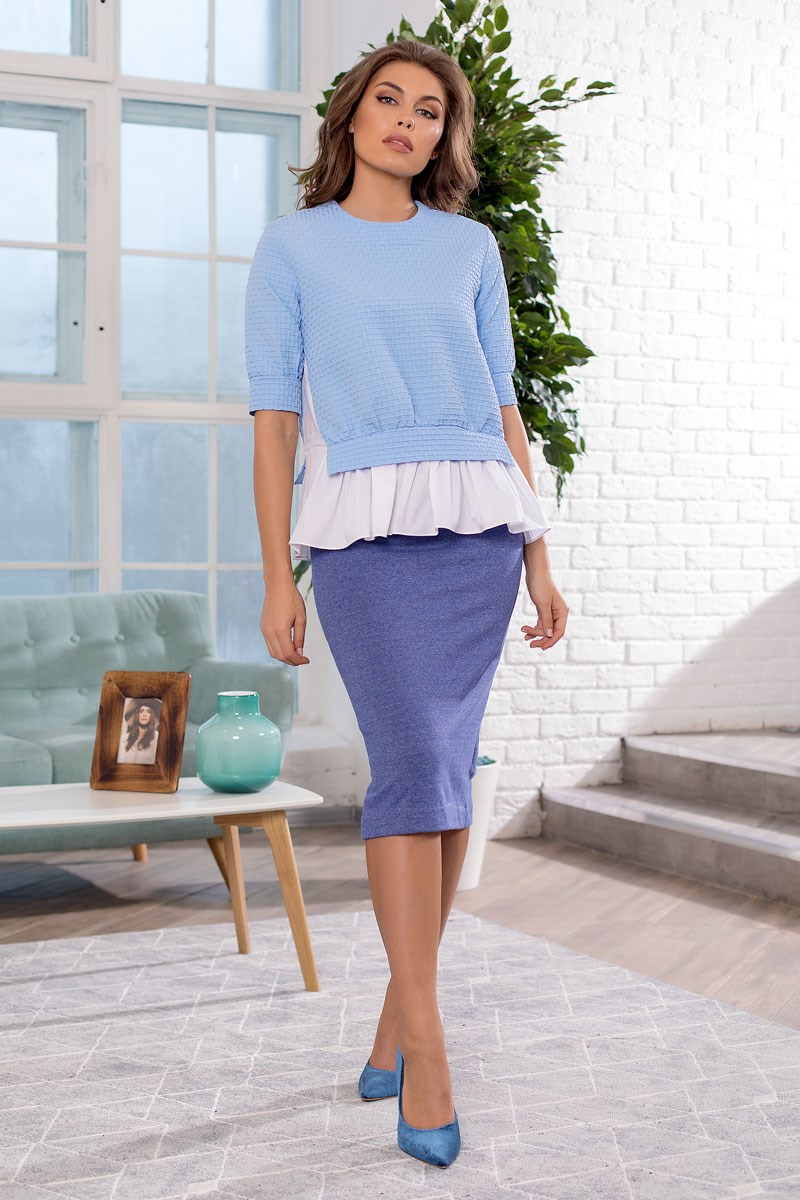 Фото - Skirt 2404101-24 lace tiered layer skirt