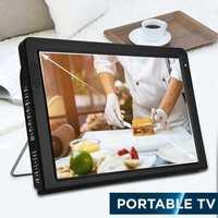 12 Inches Portable Mini Digital Color Analog Led TV DVB T DVB T2 Rechargeable Television Player TFT LED Screen ATSC/HDMI Input