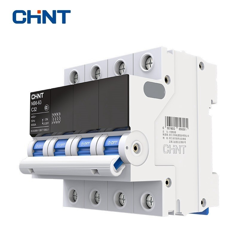 CHINT Miniature Circuit Breaker Overload Protection TaiChi NB6 63 4P Series Household Air Switch 25A 32A 40A 50A 63A in Circuit Breakers from Home Improvement