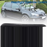 For VW Golf 6 R20 GTI GTD MK6 2008 2012 1 Pair Real Carbon Fiber Front Headlight Eye Lid Trim Eyebrow Covers