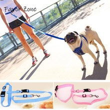 Nylon Dog Leash Elastic Hands Freely Breakaway Leashes Running Walk Training Waist Belt Rope For Dogs Collar Pet Products