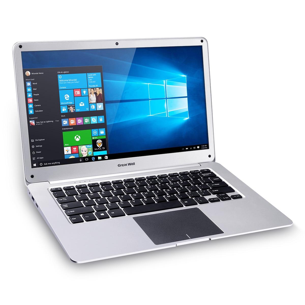 Great Wall 14inch Laptops Windows 10 Intel Celeron N3350 2.4GHz 4GB 64GB 37W Lon