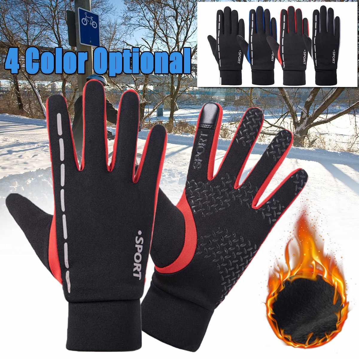 Cycling Gloves Winter Warm Outdoor Anti-slip Touch Screen Wind-proof Waterproof
