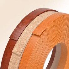 Borde de bandas de PVC decorativas para muebles, chapa de madera autoadhesiva de 50M para muebles, armario, superficie de chapa de madera