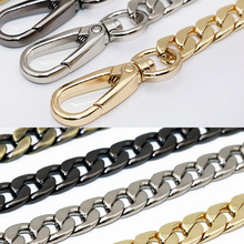 hot deal buy meetee 60/100/110/120cm handbag metal bag chains with buckles diy bag replacement shoulder straps hardware parts accessories