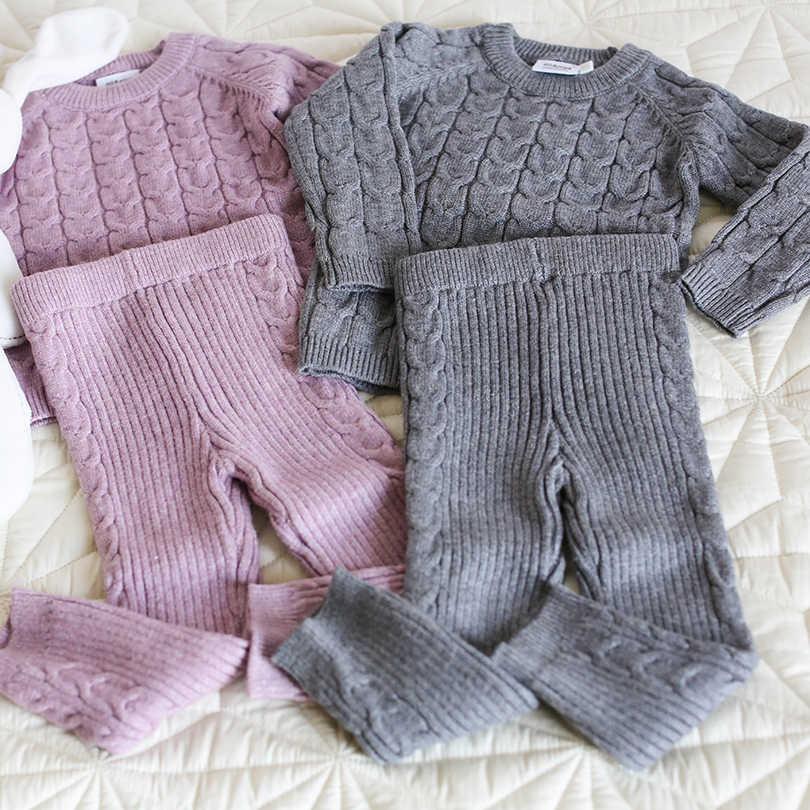 c02284250 ... Bebé recién nacido Bebé Ropa de Otoño de algodón de invierno tejer  jerseys manga larga +