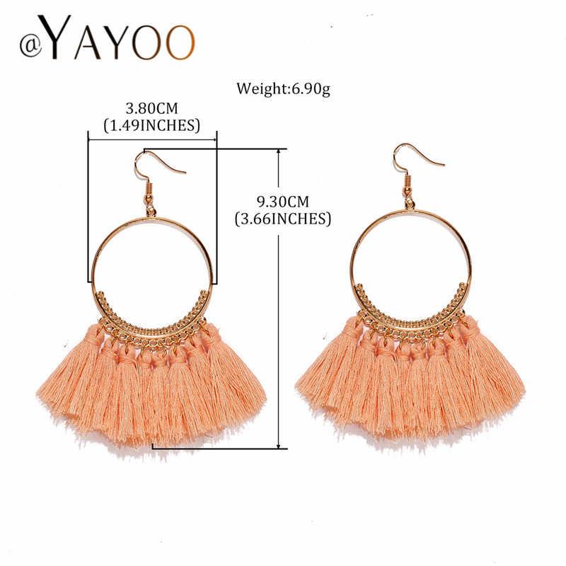 Bohemian Quaste Ohrringe Für Frauen Vintage Ethnische Lange Ohrringe Modeschmuck 2019 Gold Hochzeit Party Braut Ohrring Weibliche