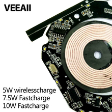 10W PCBA Qi Wireless Charger For Samsung S8 Circuit Board Coil DIY For iphone wireless charger