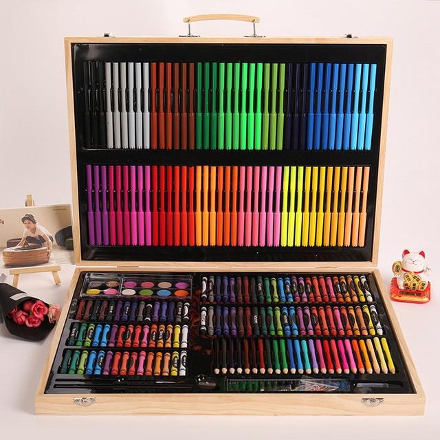 Brise 251 pièces Art Set peinture aquarelle outils de dessin Art marqueur brosse stylo fournitures enfants pour cadeau boîte bureau papeterie