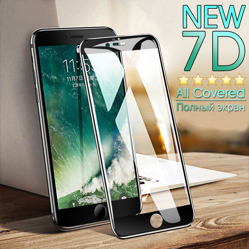 7D Full Cover Protective Tempered Glass On For iphone 7 6 6S 8 Plus screen protector For iPhone X 5 5S SE Curved Edge Glass Film7D Full Cover Protective Tempered Glass On For iphone 7 6 6S 8 Plus screen protector For iPhone X 5 5S SE Curved Edge Glass Film