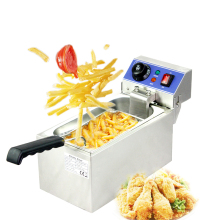 ITOP 2000W Electric Fryer 6L Stainless Steel Deep Fryer With Fryer Basket Smokeless French Fries Chicken Grill Multifunction electric 6l fryer commercial home use french fries commercial 2000w stainless steel countertop deep fryer single tank basket