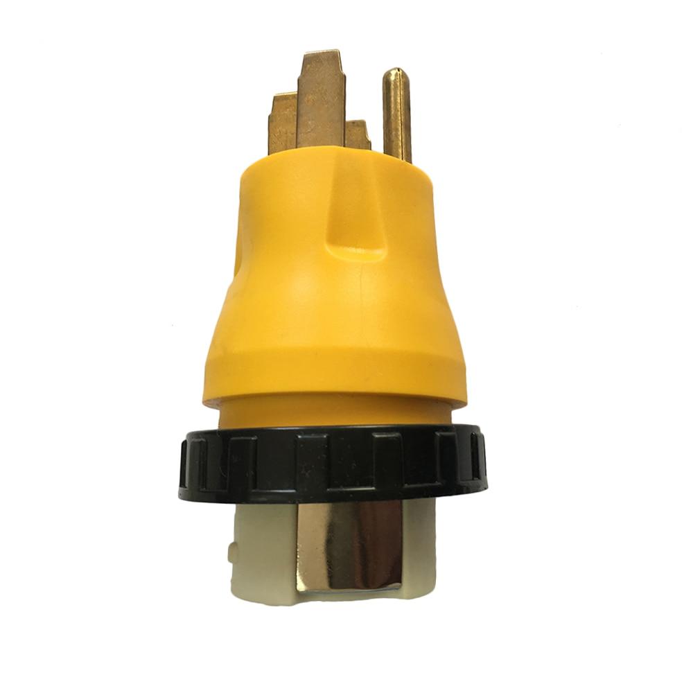 Power Cord Adapter Plug 15A Male to 50A Twist Lock Female