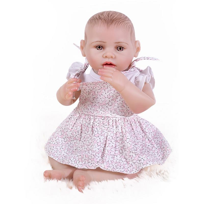 3cm Reborn Doll Silicone Simulation Baby Doll Full Body Shower Toy For Children Girl Educational Pretend