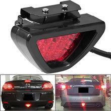 F1 Stil DRL Rot 12 LED Hinten Schwanz Stopp Nebel Dreieckige Bremslicht Stop Sicherheit Lampe Auto Motor