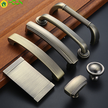 1 pc Bronze Furniture Knobs Cabinet and Handles Simple Kitchen Drawer Pulls Door