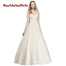 BacklakeGirls Bridal Beaded Lace Ball Gown Wedding Dress